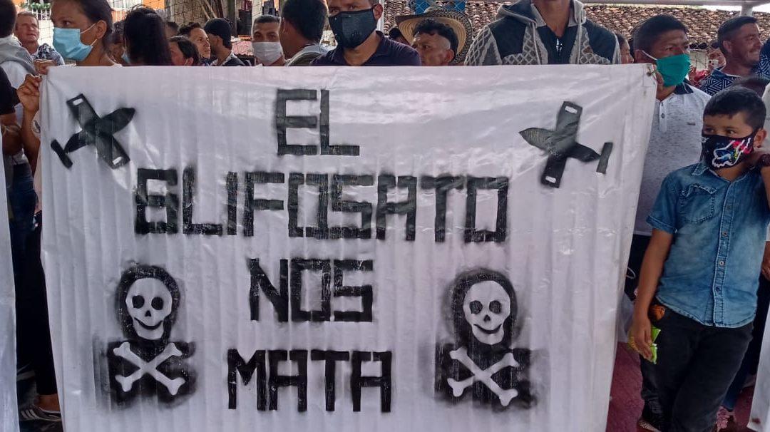 Declaración apoyo a la decisión de la Cámara de representantes de Estados Unidos de prohibir asignación de fondos para la fumigación aérea de cultivos ilícitos en Colombia