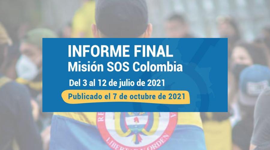 Informe Final Misión SOS Colombia