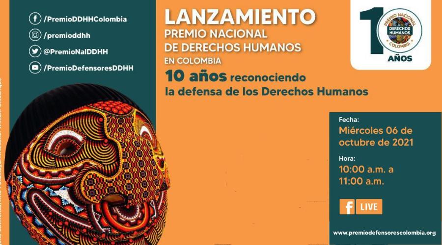 10 años del Premio Nacional de DDHH en Colombia