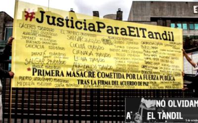 A cuatro años de cometida la masacre de El Tandil, solicitamos a la Corte Constitucional que remita el caso a justicia ordinaria
